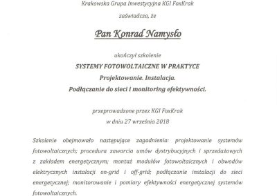 Certyfikat-Projektowanie,-Instalacja,-Monitoring-instalacji-Fotowoltaicznych-PAN